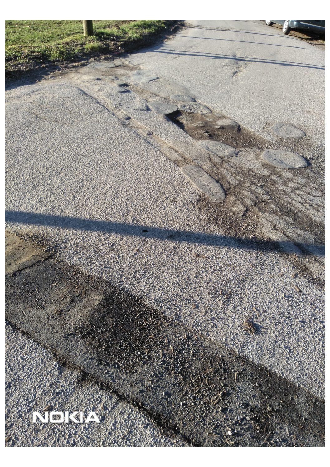 Antrag zur ordnungsgemäßen Wiederherstellung der Gemeindestraßen Krähwinkeler Weg